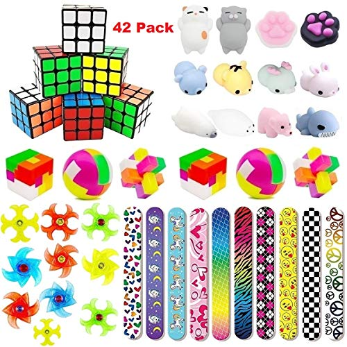 Party Favors For Kids Toys Assortment Bundle, Carnival Prizes, Birthday Party, Prizes Box Toy, Classroom Rewards, Pinata Filler, Treasure Box, Goodie Bag Filler, School Game Supplies(42 Pack) -