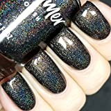 Stark Raven Mad Black Holographic Nail Polish- 0.5 oz Full Sized Bottle