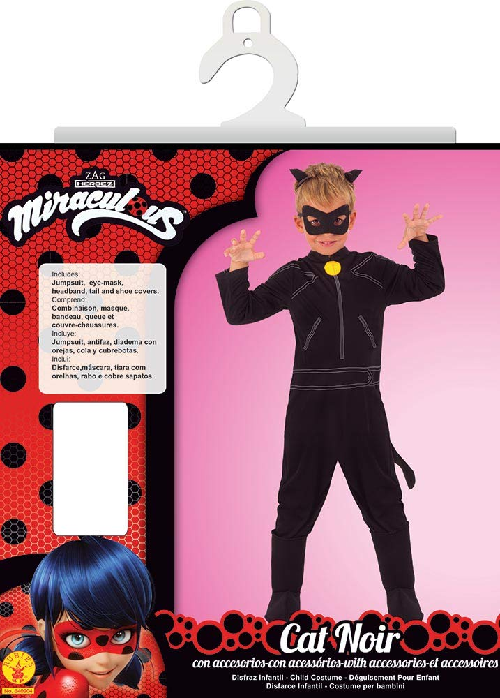 Ladybug Disfraz Cat Noir Classic Infantil, L (RubieS Spain 640904-L): Amazon.es: Juguetes y juegos