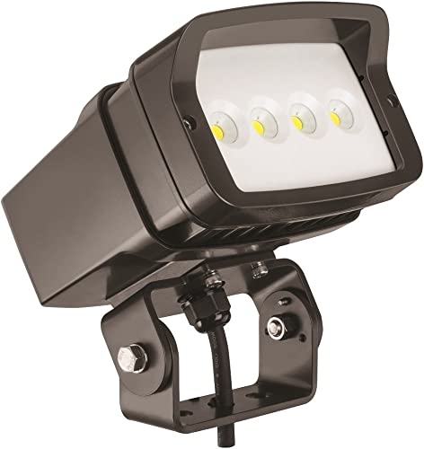 Lithonia Lighting OFL1 LED P2 Contractor Select 40K MVOLT YK DDBXD M4 4000K Color Temperature Size 1 Floodlight with P2 Performance Package – Yoke Mounted