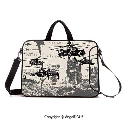 89a86c20b903 Amazon.com: AngelDOU Neoprene Printed Fashion Laptop Bag A Hand ...