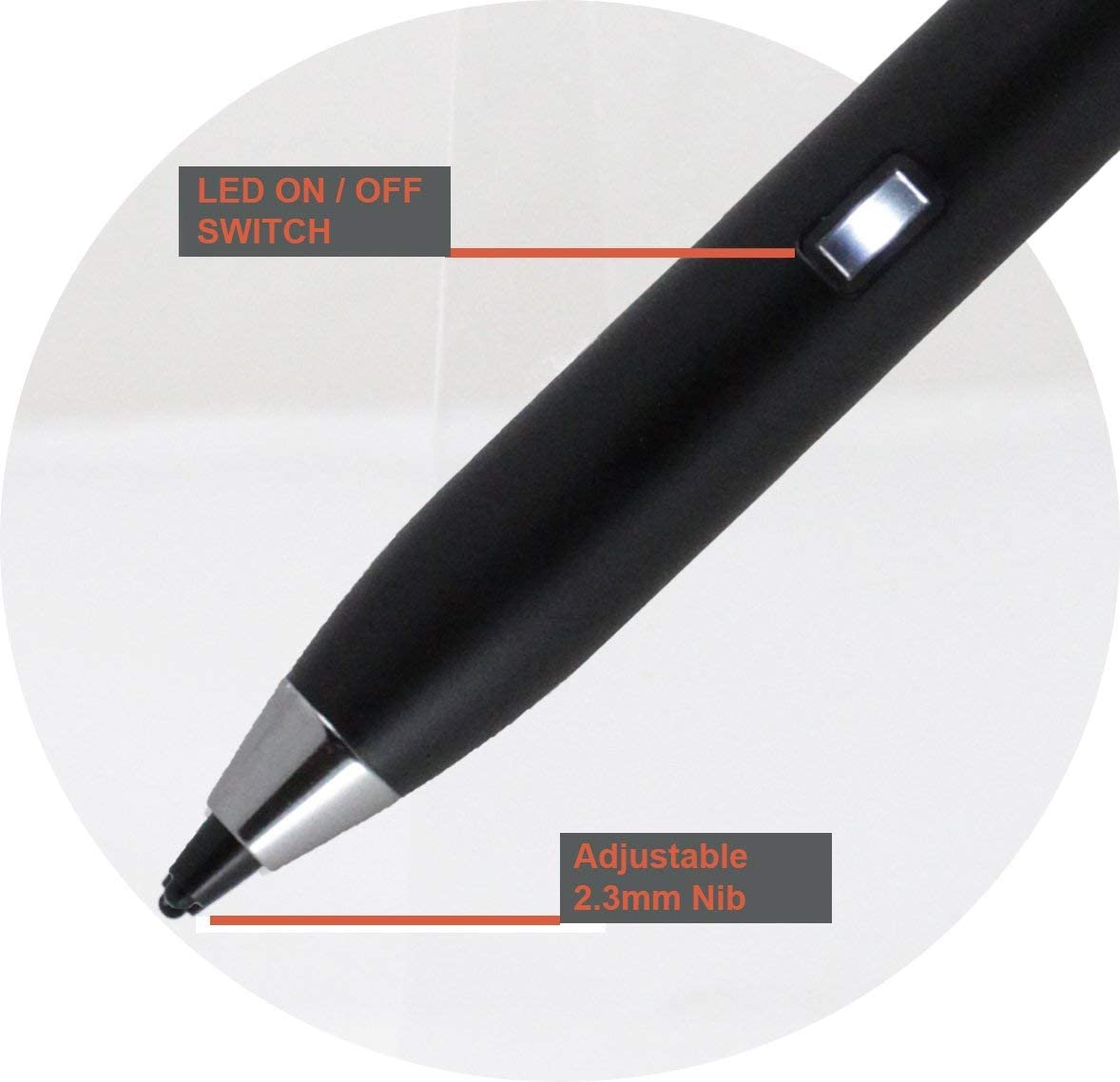 Broonel Grey Fine Point Digital Active Stylus Pen Compatible with The XIDU PhilBook Max PC Portable 14.1