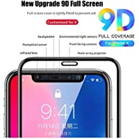 nzon 9D Anti-Scratch, Ultra-Clear Screen Protector Film Tempered Glass for iPhone X (Black)