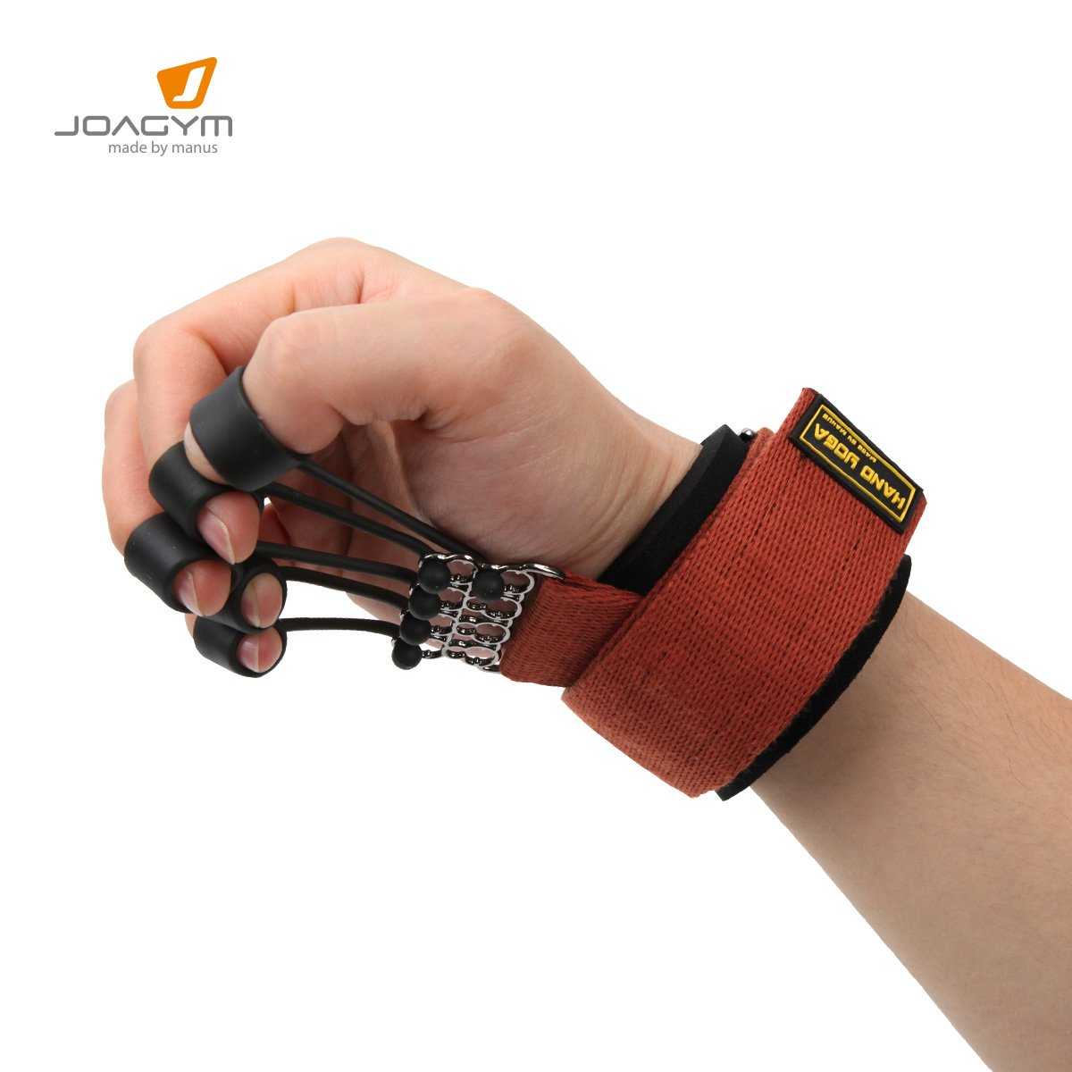 Joagym Finger and Hand Extensor Exerciser Trainer with Resistance Band Stretcher for Guitar, Climbing, Therapy