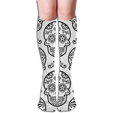 Amazon.com: Calcetines de mujer Mexican-Sugar-Skull sexy ...