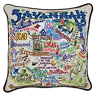 SAVANNAH HAND EMBROIDERED PILLOW - CATSTUDIO