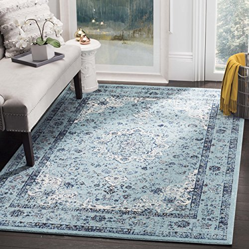 Safavieh Evoke Collection EVK220E Vintage Oriental Light Blue Area Rug (6'7