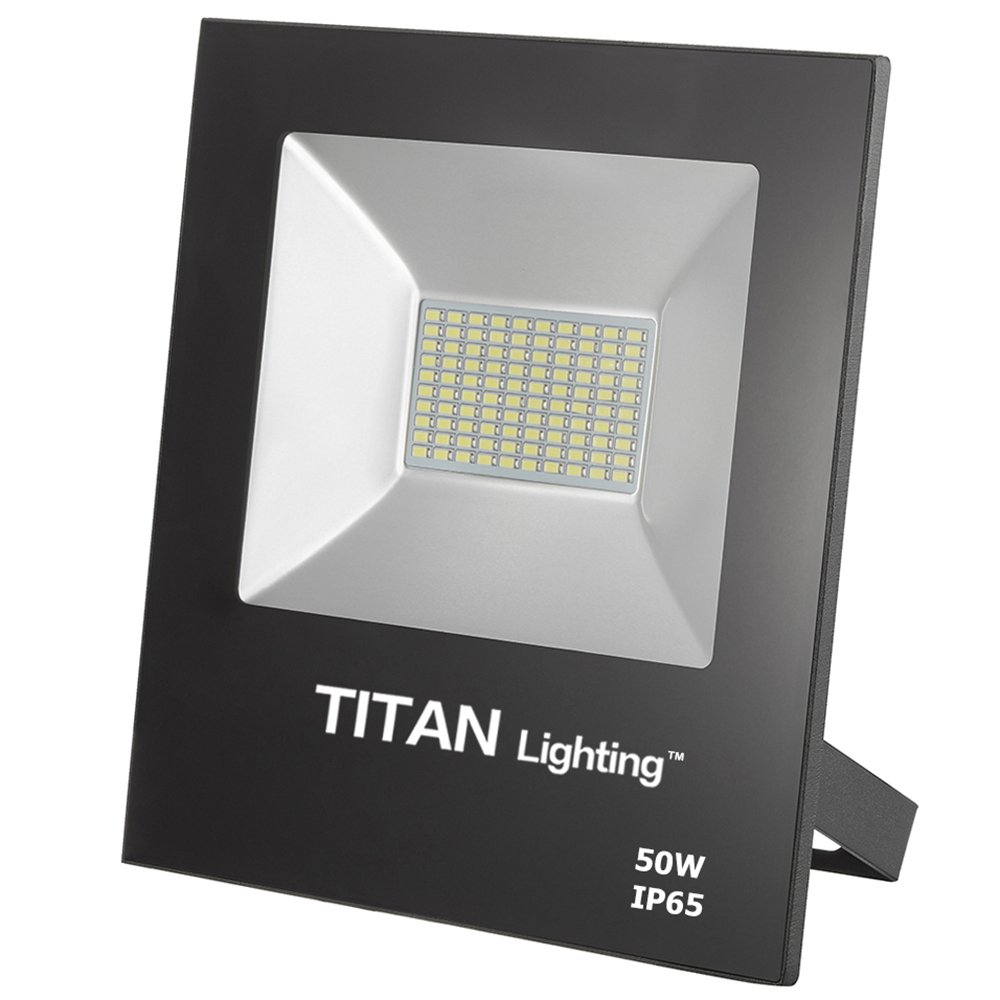 Titan Lighting Bronze Frameless 50W Led Flood Lights, 100W Hps/HID Replacement, 4250LM, 6000K Day Light, Waterproof, 120-277V, Instant on