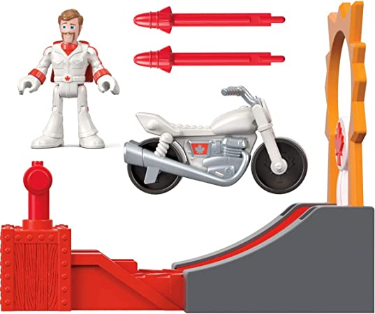 Duke Caboom Disney Pixar Toy Story 4 Stunt Racer kaboom Toy Action Figure set