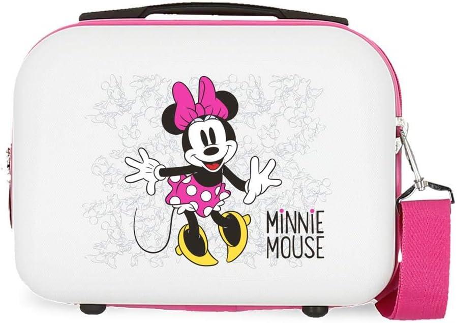 Disney Neceser de viaje, 29 cm, 9.14 litros Enjoy The Day, color Rosa