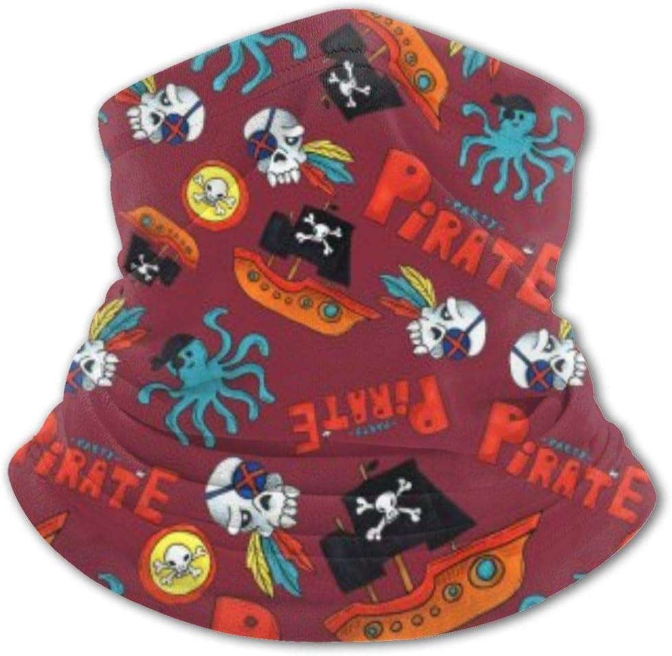 Bandanas para niños de Fiesta Pirata, Diadema para niños al Aire Libre, Bufanda para el Cuello, Polaina, protección Facial para niñas y niños