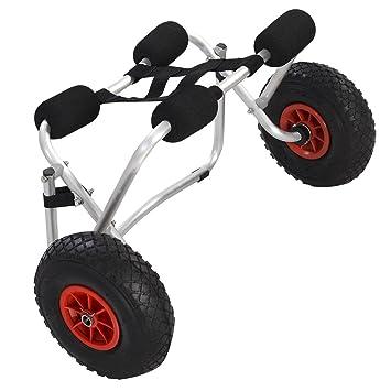 Costway Carro de aluminio para transportar kayak, canoa, con correa: Amazon.es: Deportes y aire libre