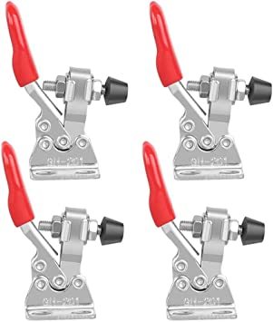 6 Pack Adjustable Toggle Clamp GH-201-A Horizontal Quick Release Clamp with 27kg Holding Capacity for Machine Operation Woodworking Welding Molding