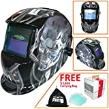 Leopard LEO-WH86 Solar Powered Grinding Function Auto-Darkening Grinding Welding Helmet with 5 Free Spare Lenses