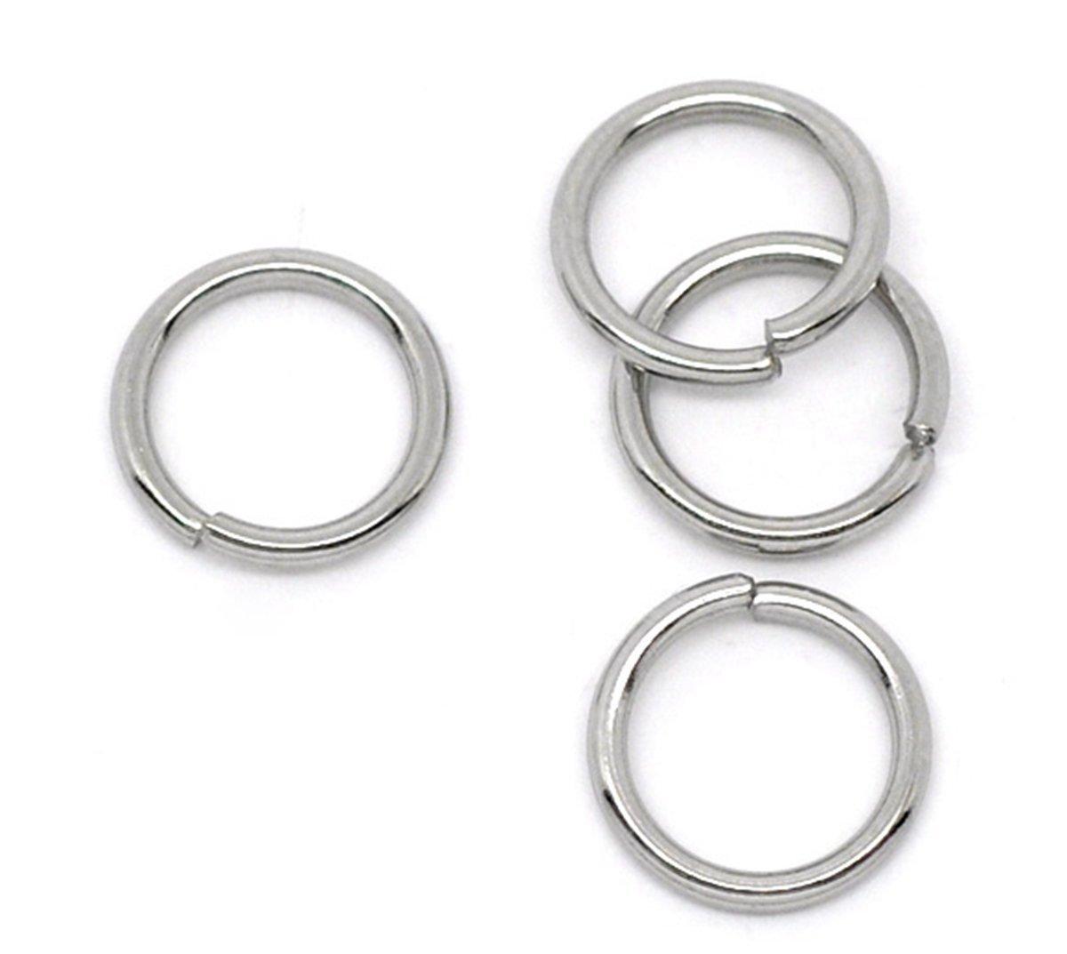 Angel Malone ® 50 x 10mm Stainless Steel Open Jump Rings Jewellery Making Findings