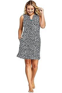 4b3d798669563 Lands' End Women's Plus Size Cotton Jersey Sleeveless Tunic Dress Swim Cover -up Print