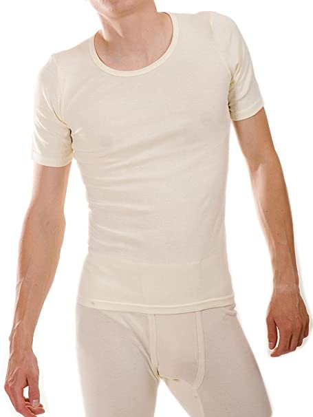 Living Crafts - Camiseta interior - para hombre, color: natural, talla: small