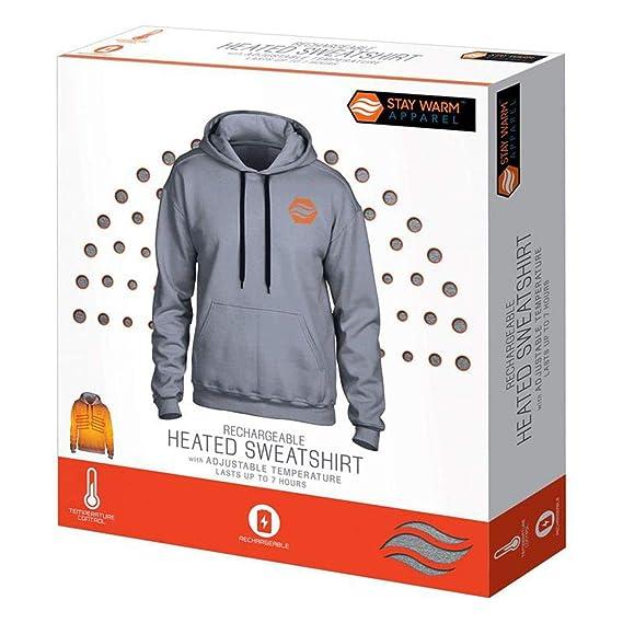 Amazon.com: Sudadera con capucha calefactada recargable de 3 ...