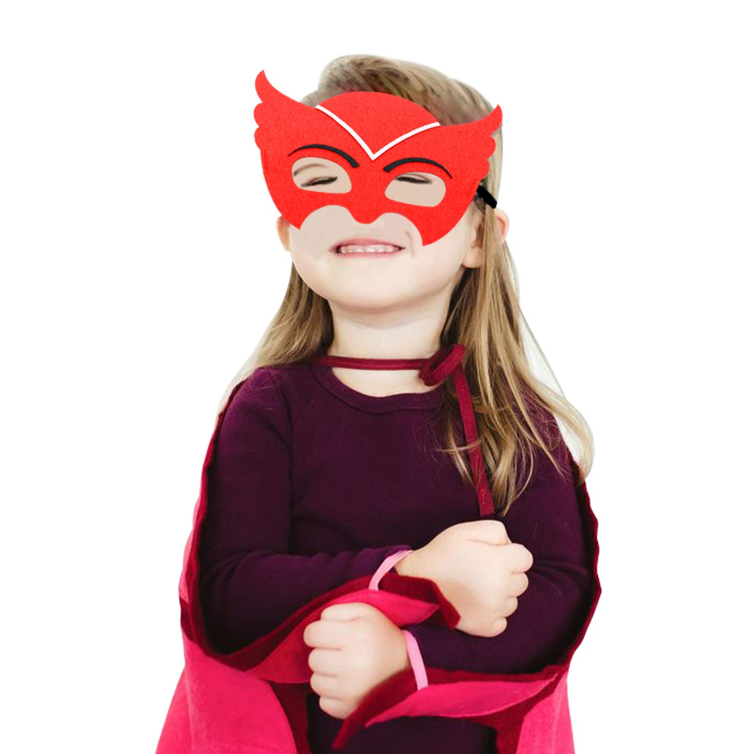 Cartoon Heros Felt Masks 12 pcs Party Supplies Cosplay Character Mask Party Favors for Kids Boys or Girls