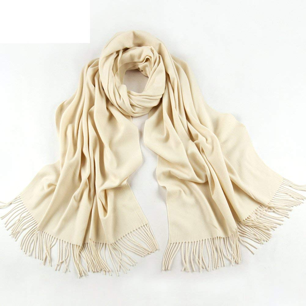 M Zhuyuanhai Scarf Lady winter winter shawls Thick warm Su dualse a solid color scarf
