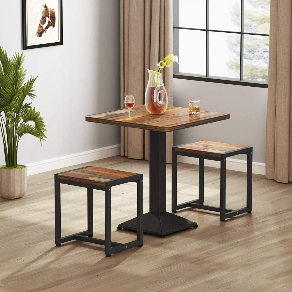 tribesign 3-piece narrow dining table for small spaces