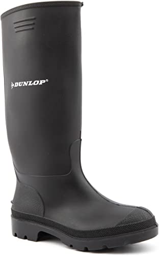 Bottes en pour Dunlop femmes caoutchouc noires qGLSVMpUz