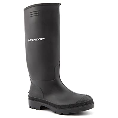 Dunlop Ladies Pricemaster Black Wellington Boots Size 3