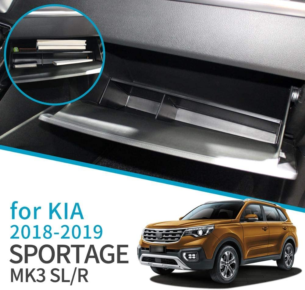 linfei Auto Handschuhfach Intervallspeicher F/ür Kia Sportage 2018 2019 Mk3 Sl Neues Modell Zubeh/ör Control Co-Pilot Box