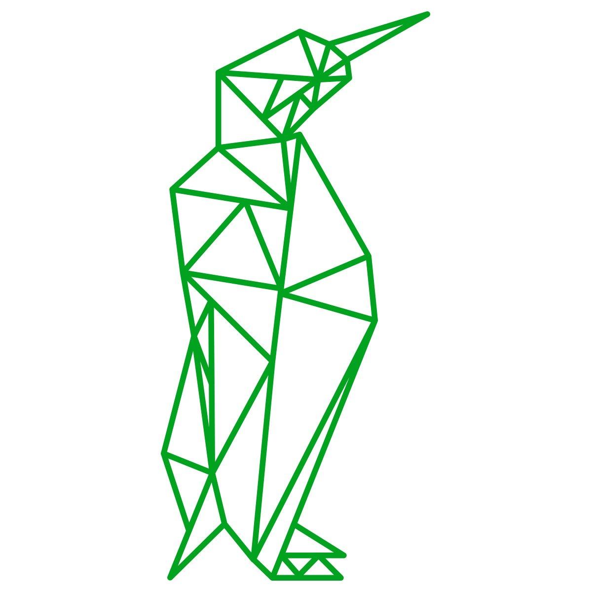 WANDKINGS Wandtattoo - Origami-Style Pinguin - 52 x 110 cm - HellRosa - Wähle aus 5 Größen & 35 Farben B07C9H39HL Wandsticker & Wandfiguren
