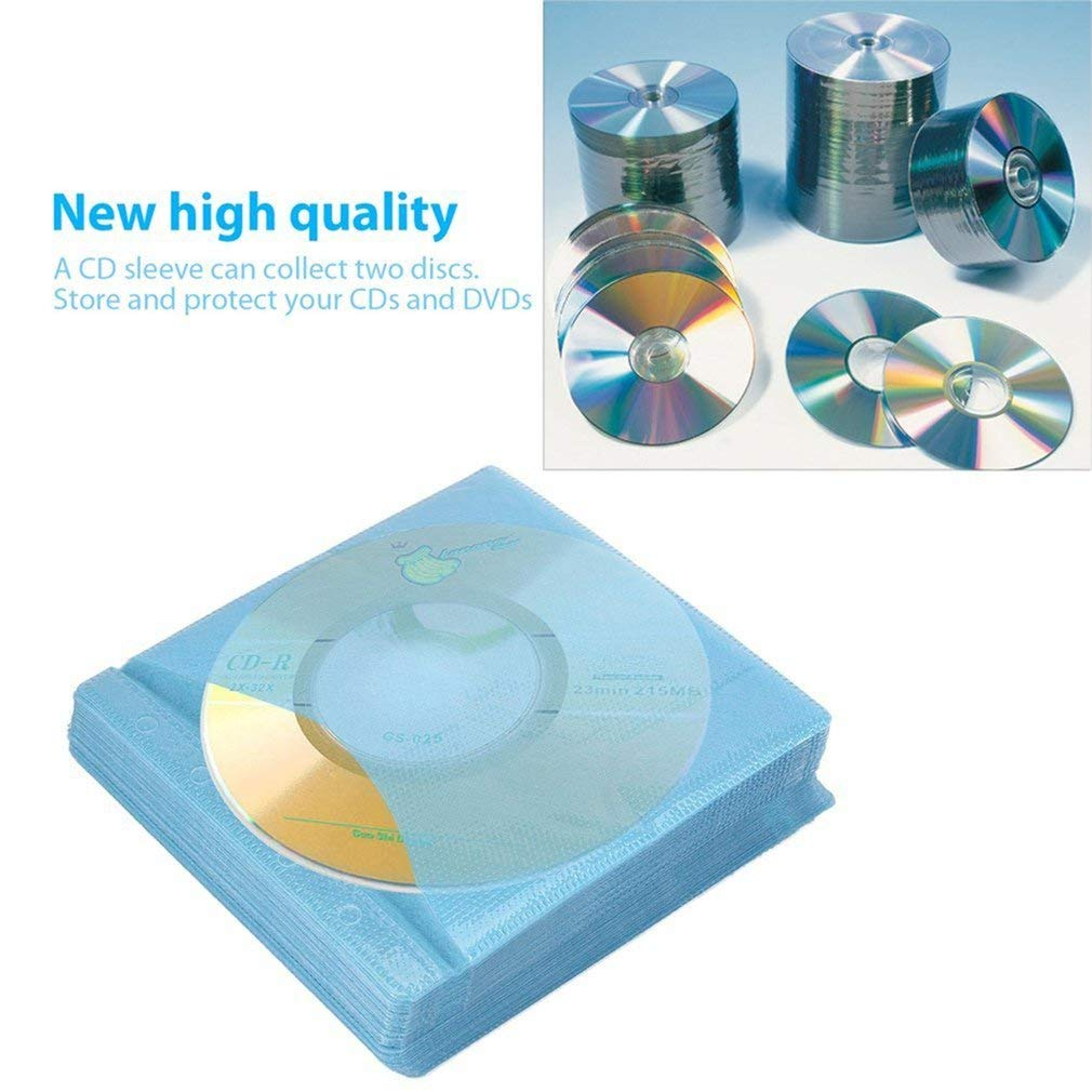 100 Unids CD DVD de Doble Cara Cubierta de la Caja de ...