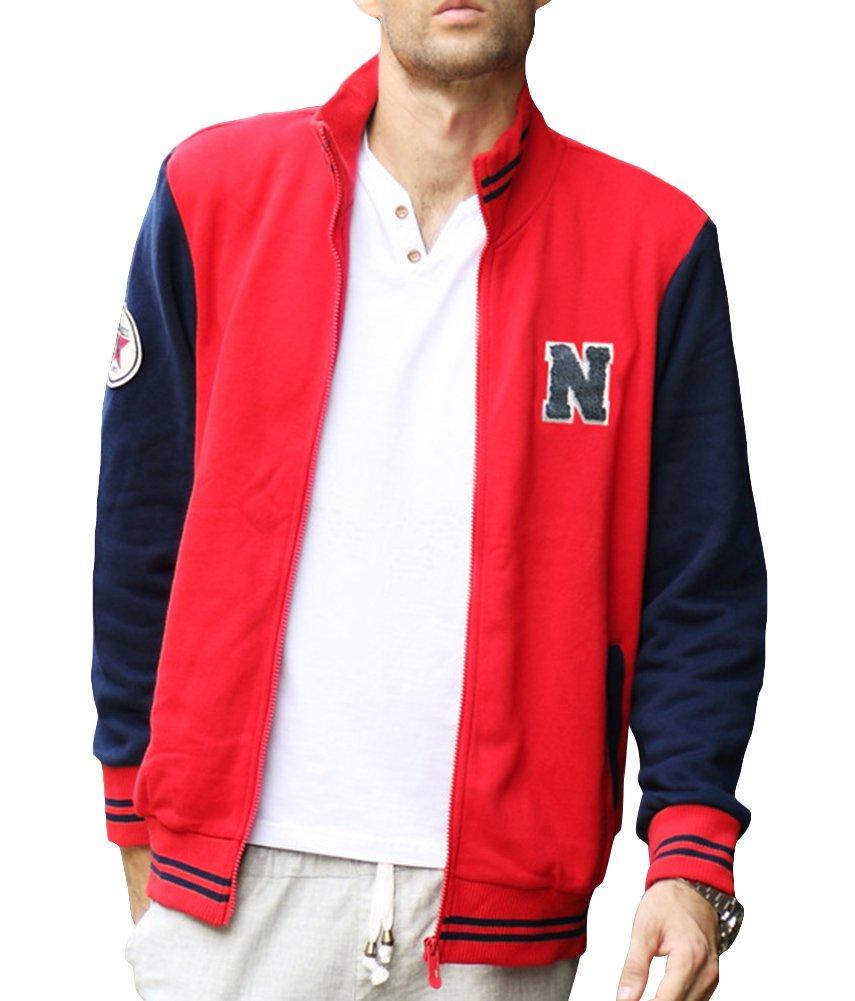 Nac Men's Fashion Stand Collar Thin Sportswear Rib Baseball Jacket