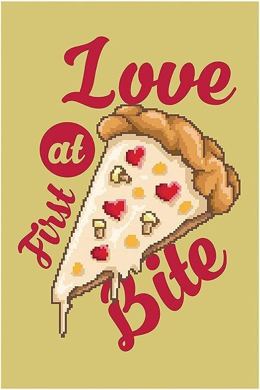 Elbster Pixel Art Pizza Amour Affiche Image Pizza Aiment