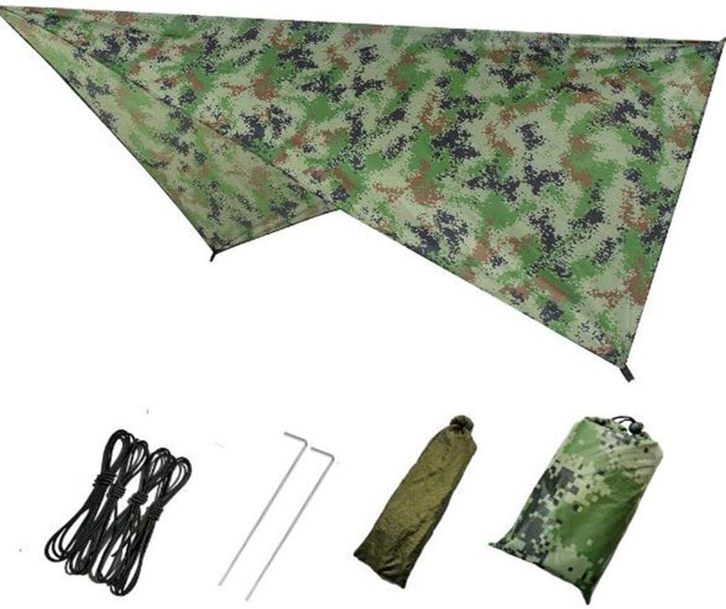 CANHOT 7.55 x4.6 Beach Tent Tarp 2-3 Person Outdoor Diamond Camping Mat Waterproof Sunscreen Plaid Multi-Function Canopy