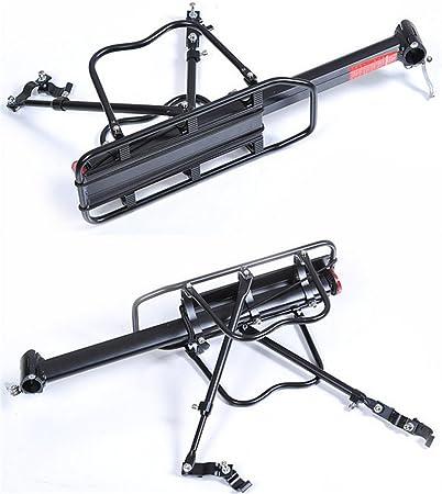 Malayas Portaequipajes Soporte Trasero Aleación de Aluminio Bicicleta Portabultos Ajustable con Reflector Rojo Capacidad de Carga 50kg,: Amazon.es: Deportes y aire libre