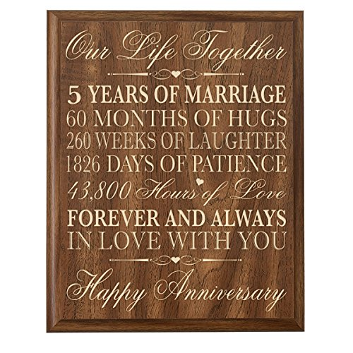 ... Anniversary Gifts for Her,5th Wedding Anniversary Gifts for Him 12 W X