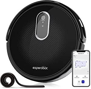 Experobot Robotic Vacuum Cleaner,MasterClean X7 Carpet Robot Vacuum Cleaner, Wi-Fi Cleaner,2200Pa Strong Suction,Compatible with Alexa, Self-Charging, Ideal for Pet Hair, Floor and Carpets