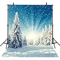 Christmas Photography Backgrounds Wedding 8x8FT Snow Frozen Photo Backdrops Photography Winter Forest Backdrop Background Studio Prop M6425