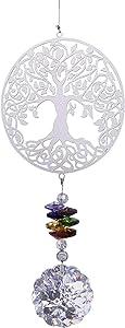 H&D HYALINE & DORA Crystal Suncatcher Rainbow Maker, Tree of Life