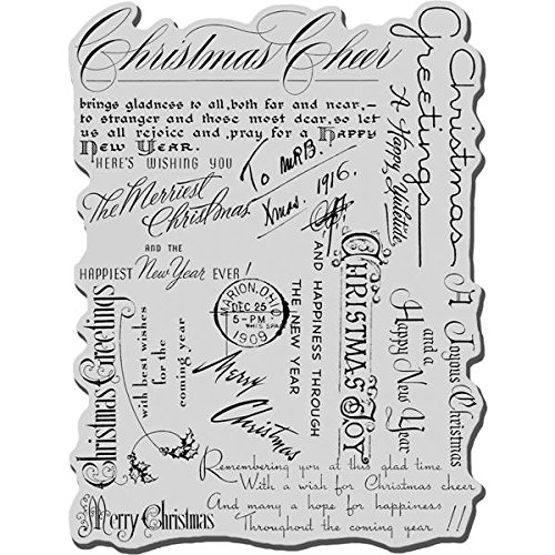 Stampendous Christmas Rubber 6 Inch Background product image