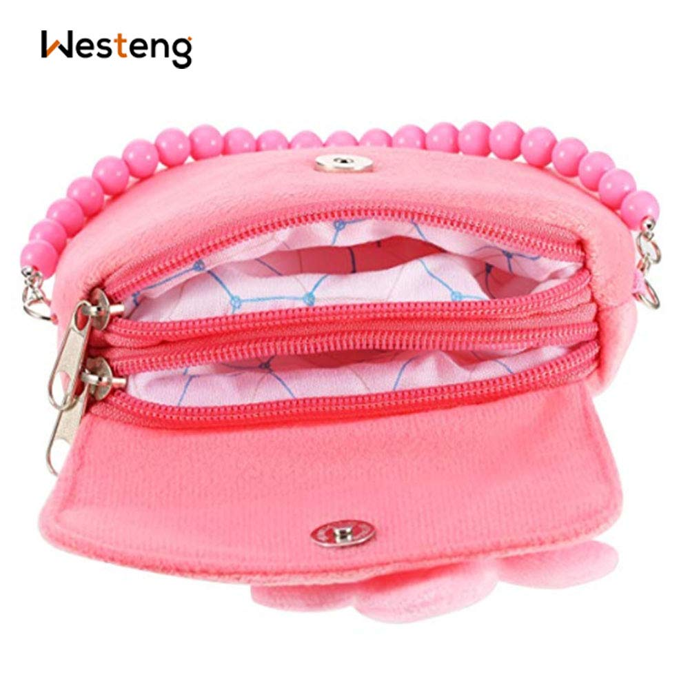 f79a2ba62 Westeng Kids Little Girl's Shoulder Bag Beaded Handbag Cute Princess  Crossbody Bag Pink Coin Purse for 1-6 Years Old: Amazon.co.uk: Luggage