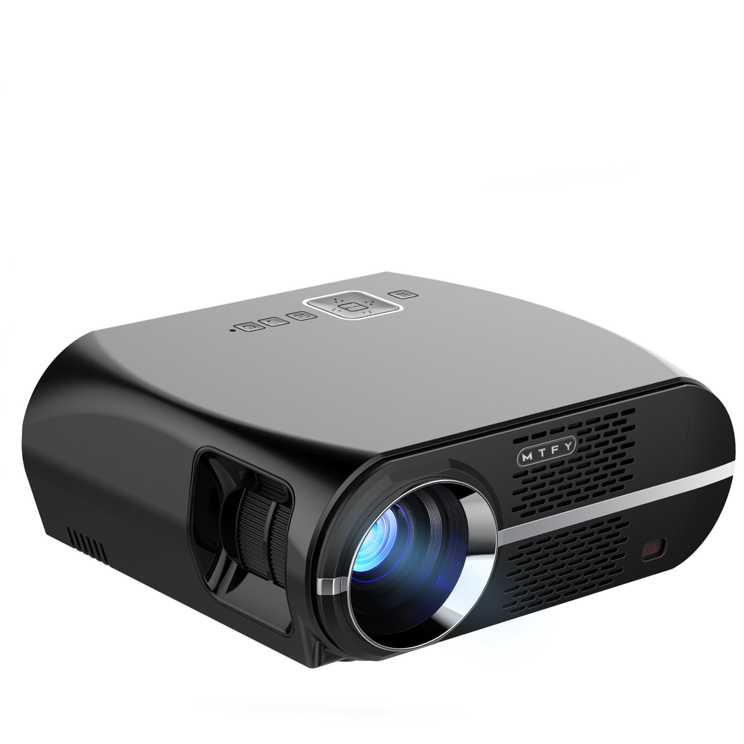GP100 Video Projector,3500 Lumens LCD 1080P Full-HD LED Portable Multimedia Home Theater Projectors for Movie, TVs, Laptops, Games,DVD,PC,Laptop Support HDMI, USB, VGA, AV by MTFY