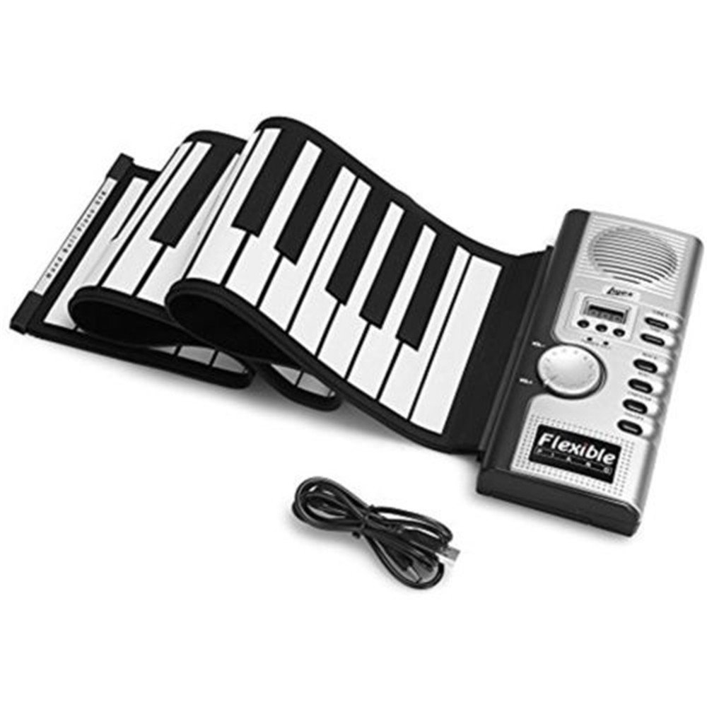 AIYIOUWEI Portable Flexible 61 Keys Silicone Digital Soft Keyboard Piano Electronic Roll Up Piano