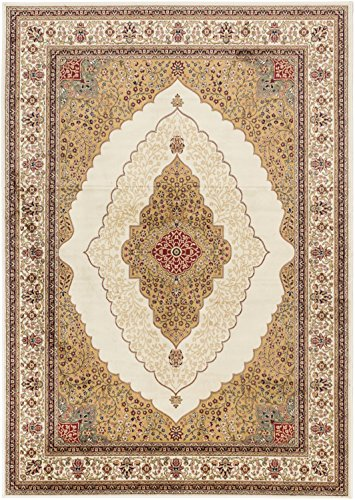 Traditional | Area Rug for Living Room, Bedroom | Home Decor Rug | Kerman Classic Ivory Rug 5'3