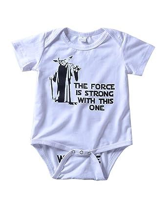 283be570c Amazon.com  Babywow Infant Baby Boys Girls Summer Funny Letter ...