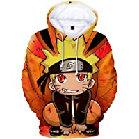 EUDOLAH Men's 3D Printed Hoodies Sweatshirt with The Japanese Anime Naruto Cosplay Costume Outerwear