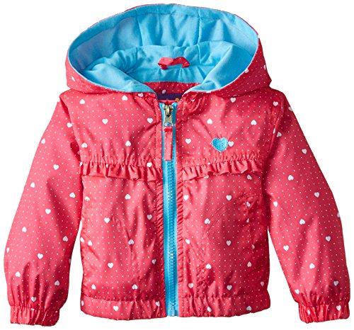 Pink Platinum Baby Girls' Heart Ruffle Jacket, Fuchsia, 12 Months