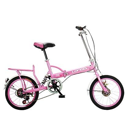 XQ Bicicleta Plegable 16 Pulgadas Adultos Bicicleta Plegable Velocidad 6-Variable Ultralight Mojadura Hombres Y