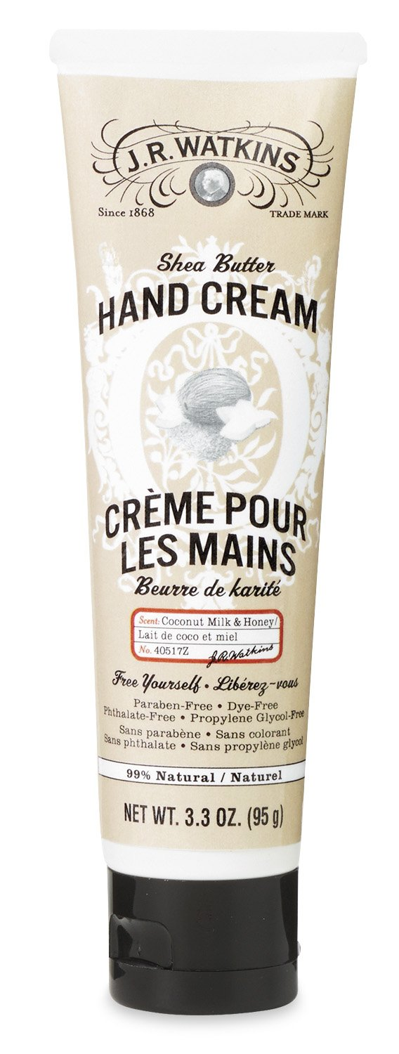 J.R. Watkins Hand Cream with Shea and Cocoa Butters, Lavender, 3.3 Ounce 40508