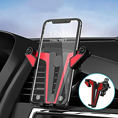 Phone Holder for Car, PTUNA Two-Color Triangle Air Vent Phone Holder, 360-Degree Rotating Holder Fits for iPhone 11/XS/11 pro/8 Plus/6/7 and Most Smartphones(Upgraded Version)