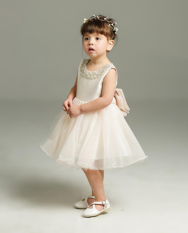 Happy Cherry Baby Girls Sleeveless Dress Christening Baptism Gowns Size 3M Pink